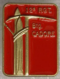 Distintivo post-bellico del 12° Reggimento Alpini Italian Army, Reggio, Coca Cola, Badges, Period, Climbing, War, Name Badges, Badge