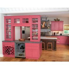 Wow, a pink kitchen!