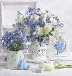 Forget Me Not Cottage My Flower, Fresh Flowers, Spring Flowers, Beautiful Flowers, Ikebana, Beautiful Flower Arrangements, Floral Arrangements, Deco Floral, Floral Design