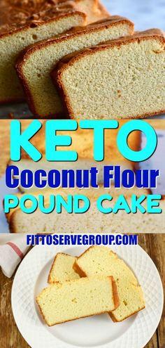 Keto Coconut Cream Cheese Pound CakeKeto cream cheese coconut flour pound cake- is a nut-free keto cream cheese pound cake recipe. Baked with coconut flour makes it nut-free, gluten-free, grain-free,and sugar-free. Coconut Flour Desserts, Baking With Coconut Flour, Baking Flour, Coconut Recipes, Healthy Recipes, Almond Flour, Cake Recipe Using Coconut Flour, Coconut Flour Mug Cake, Cake Flour Recipe
