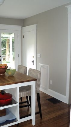 Living room walls or to give an old piece of furniture new life - Graceful Gray Behr A Great Neutral Gray Home
