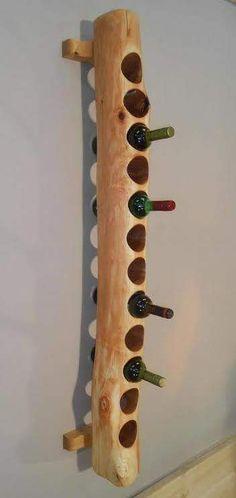 Wine shelf by Woodengold Weinregal von Woodengold Wine rack from Woodengold Wine rack from Woodengold - Woodworking Plans, Woodworking Projects, Woodworking Techniques, Woodworking Beginner, Woodworking Joints, Woodworking Patterns, Wood Wine Racks, Creation Deco, Log Furniture