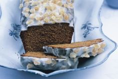 This ginger cake is delicious glazed with the soft lemon icing.