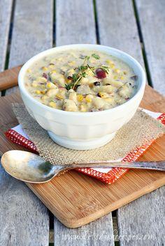 Grilled Corn and Potato Chowder on MyRecipeMagic.com