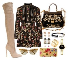 Black, Gold & Nude by carolineas on Polyvore featuring polyvore, fashion, style, Dodo Bar Or, Gianni Renzi, Dolce&Gabbana, Cartier, Of Rare Origin, Movado, Fendi and clothing