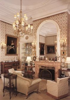 A Drawing Room at Sandringham House