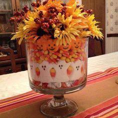 Halloween trifle bowl display