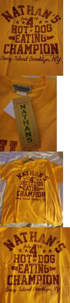 Other Fan Apparel and Souvenirs 465: Nathan S Famous Hot Dog Eating Contest Champion T Shirt Large L Xl Mens New Nwt -> BUY IT NOW ONLY: $49.95 on eBay!