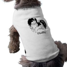 Cute Black and White Dog and Customizable Text Pet Shirt - white gifts elegant diy gift ideas