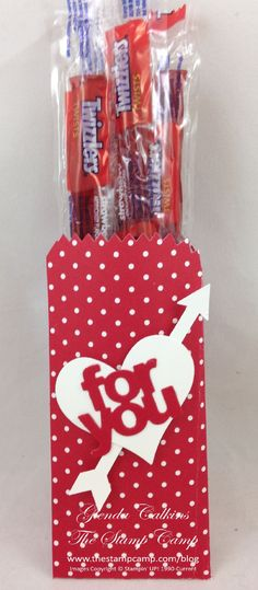 Glenda's video for making a Treat Pouch with the Mini Treat Bag Thinlits Dies by Stampin' Up!