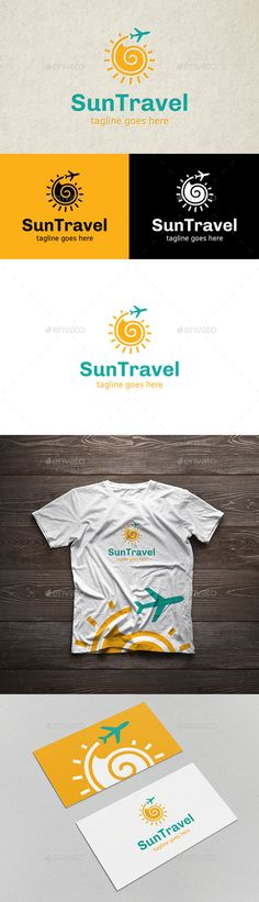 SunTravel Logo — Vector EPS #trip agency #sky • Available here → https://graphicriver.net/item/suntravel-logo/12990045?ref=pxcr