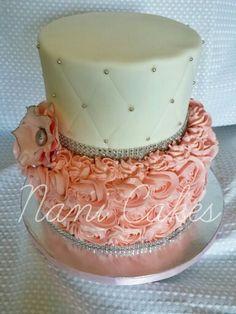 Pink.rossette cake