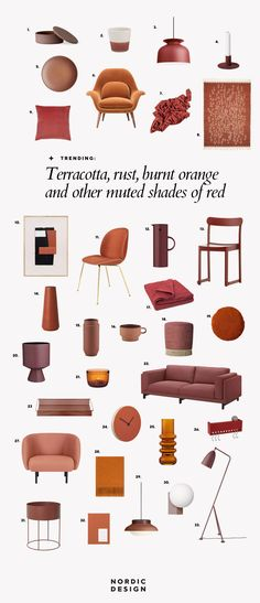 32 Fab Finds for Your Home in Trendy Terracotta, Rust, Burnt Orange and Other Muted Shades of Red - NordicDesign