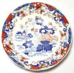 Antique Amherst Japan 824 Imari Pattern Bowl Dish Minton ? Victorian 19th c1840