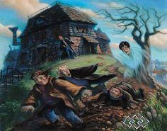 Harry Potter - The Cloak of Invisibility - Mary GrandPre - World-Wide-Art.com