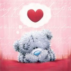 Thinking of You ♡ Tatty Teddy tjn Tatty Teddy, Teddy Bear Quotes, Happy Birthday In Heaven, Teddy Bear Pictures, Blue Nose Friends, Love Bear, Cute Teddy Bears, Cross Paintings, Cartoon Styles