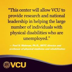 VCU awarded $4.4 million grant to boost employment for people with physical disabilities.