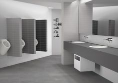 """Urban Although minimalism has its origins in the century, the order and simplicity of this decorative style takes us back to Japanese culture, where elegance is not incompatible at all with the simplicity of the space – """"Less is … Read Spanish Tile, White Bodies, Bathroom Styling, Japanese Culture, Shades Of Grey, Wall Tiles, Minimalism, Urban, Mirror"""