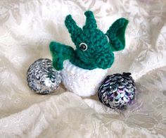Crochet Dragon Eggs with Baby Dragon Pattern