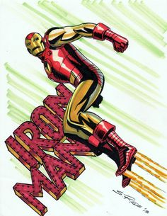 "spaceshiprocket: "" Iron Man by Steve Rude """