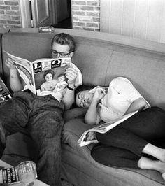 Read a book with him..