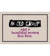 FUNNY 'OLD GRUMP' DOORMAT