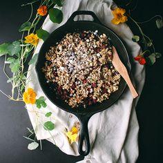 Salted Maple-Dark Chocolate-Raspberry Crisp | Food & Wine