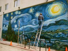 Starry Night mural at Wavecrest Avenue & Ocean Front Walk (the Boardwalk)