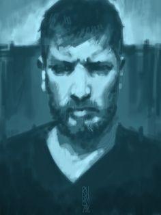 #RichardRivera self portrait. Sketchbook pro iPad