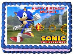 SONIC THE HEDGEHOG Edible image cake topper decoration by Galimeli, $9.50
