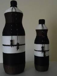 Resultado de imagem para artesanatos com garrafas de vidro com flores de croche