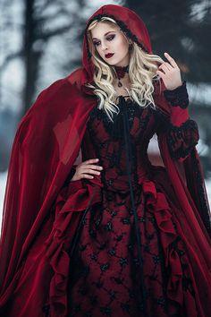Gotische Hochzeit schlafen Schönheit rot und von RomanticThreads
