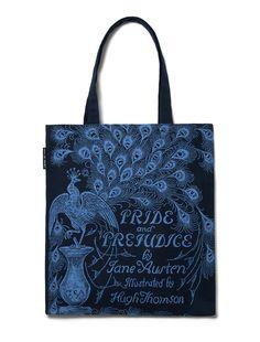 5dfa30b80da4 Pride and Prejudice navy tote bag