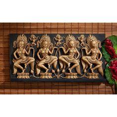 Design Toscano Angkor Buddhist Temple Sculptural Wall Frieze - EU33658