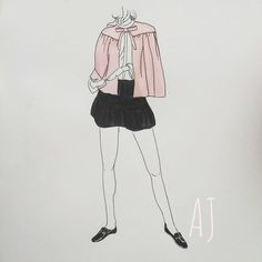 Illustration by Alexandra Jammes  Recent pink obsession💕 I managed to draw today🎉😁 . . . #paris #illustration #illustrator #sketchbook #work #art #promarkers #copics #markers #coloring #comics #comicart #alexandrajammes #girldrawing #minimalism #minimalismo #french #fashion #fashionillustration #pink #pinkclothes #skirt