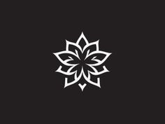 This is a really cool abstract logo. I like that it is symmetrical and the lack of color actually helps this logo be bold. Graphic Design Branding, Identity Design, Brand Identity, Design Logos, Logo Fleur, Logo Luxury, Lotus Logo, Flower Logo, Lotus Flower
