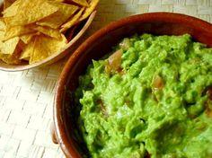 Receta para preparar salsa guacamole casera