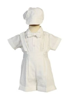 Poly Cotton Suspendered Shorts Baby Boy Christening Baptism Special Occasion Newborn Romper Outfit with Matching Hat 2T * Details can be found by clicking on the image.Note:It is affiliate link to Amazon.