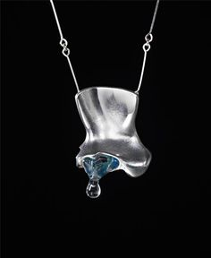 Björn Weckström -   'Creature no. 5' necklace, 1974  Mould-cast precious metal and acrylic.