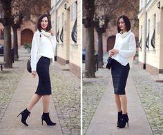Daisyline . - Zara Shoes, Zara Skirt, Reserved Sweater - Checked skirt / www.daisyline.pl