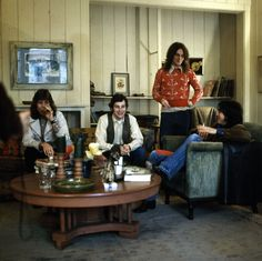 The original four-piece line-up of Big Star (with Chris Bell, second from left) in Alex Chilton's living room, 1971.