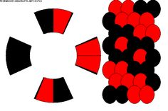 Strings: 8 Colors: 2 -  BRACELET - KUMIHIMO DISK - PATTERN K1720 - friendship-bracelets.net