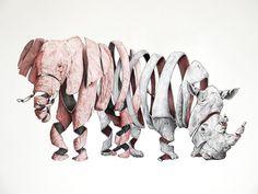 Unraveling Animals by Jaume Montserrat illustration animals