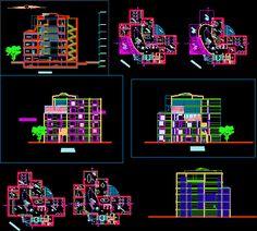Cours de génie civil et architecture avec des formation sur les principaux logiciels du domaine BTP et architecture autocad, piste, etabs et sap2000 Bloc Autocad, Autocad Free, Building Map, Building Design, Building Plans, Civil Engineering Construction, Architect Drawing, Clinic Design, Cad Blocks