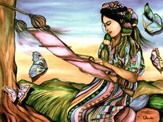 The Weaver Latin America art print by Claudia Tremblay