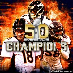Super Bowl Champions, Denver Broncos, won against the Carolina Panthers Denver Broncos Schedule, Denver Broncos Football, Go Broncos, Broncos Fans, Football Stuff, Patriots Football, Football Memes, Carolina Panthers, Super Bowl 50 Broncos