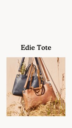 Inspired by a Roots favourite, our Edie Tote has a roomy silhouette designed to fit your essentials for weekdays or weekends. Handcrafted in Canada, it is unlined and features top handles with an adjustable, removable shoulder strap for added versatility. Silhouette Design, Shoulder Strap, My Style, Leather