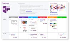 KanBan Task Board - Visualize your Tasks, To-Do's and Projects in OneNote - Templates for OneNote by Auscomp.com Onenote Template, One Note Microsoft, Real Life, Boards, Templates, F1, Projects, Planks, Log Projects