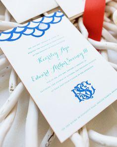 Oh So Beautiful Paper: Kearsley + Edward's New England Quahog Wedding Invitations