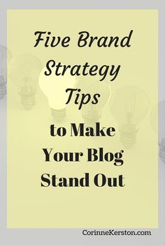 Want to make sure your blog stands out among the sea of other blogs. By having a set brand strategy for your blog, you can make sure everything you create, from your posts to your images and even your entire website, are all uniquely YOU. Click to read more!